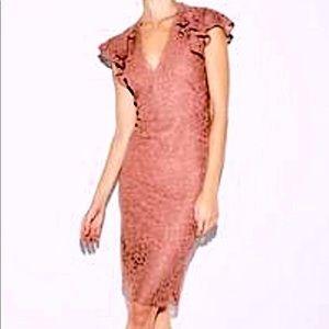 Express Dresses - Express Rose Midi Lace Dress